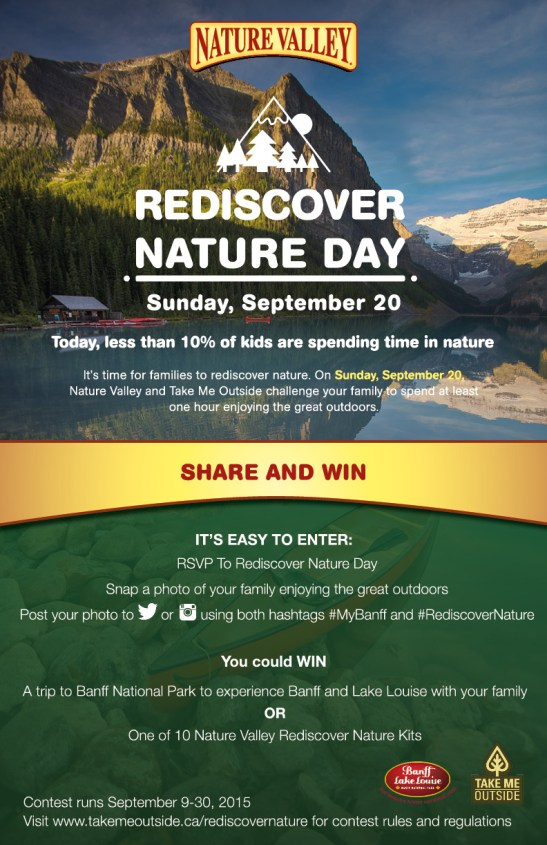 REDISCOVER NATURE DAY IS ON SUNDAY, SEPTEMBER 20, 2015