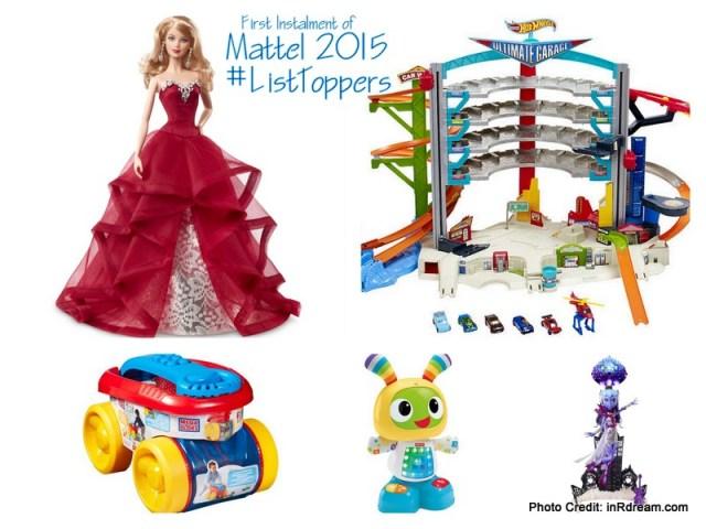 Mattel 2015 Gift Guide, List Toppers, Trending Toys of 2015