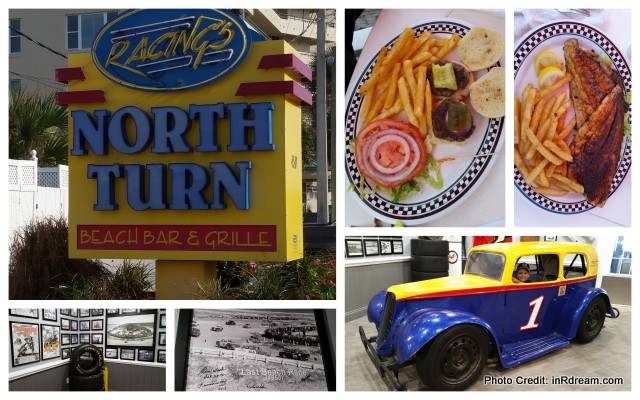 Great food, oceanfront dinner at NASCAR drivers' favorites, famous Racing's North Turn Daytona Beach 20156