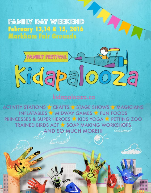 Kidapalooza is an indoor Family Festival taking place at the Markham Fair Grounds on Family Day Weekend. Things to do on Family Day in Toronto