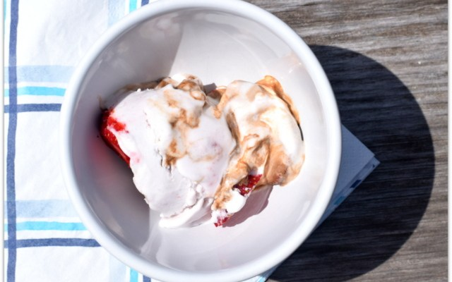 Stir Things Up: Chocolate Covered Strawberry Swirl Coconut Ice Cream Recipe