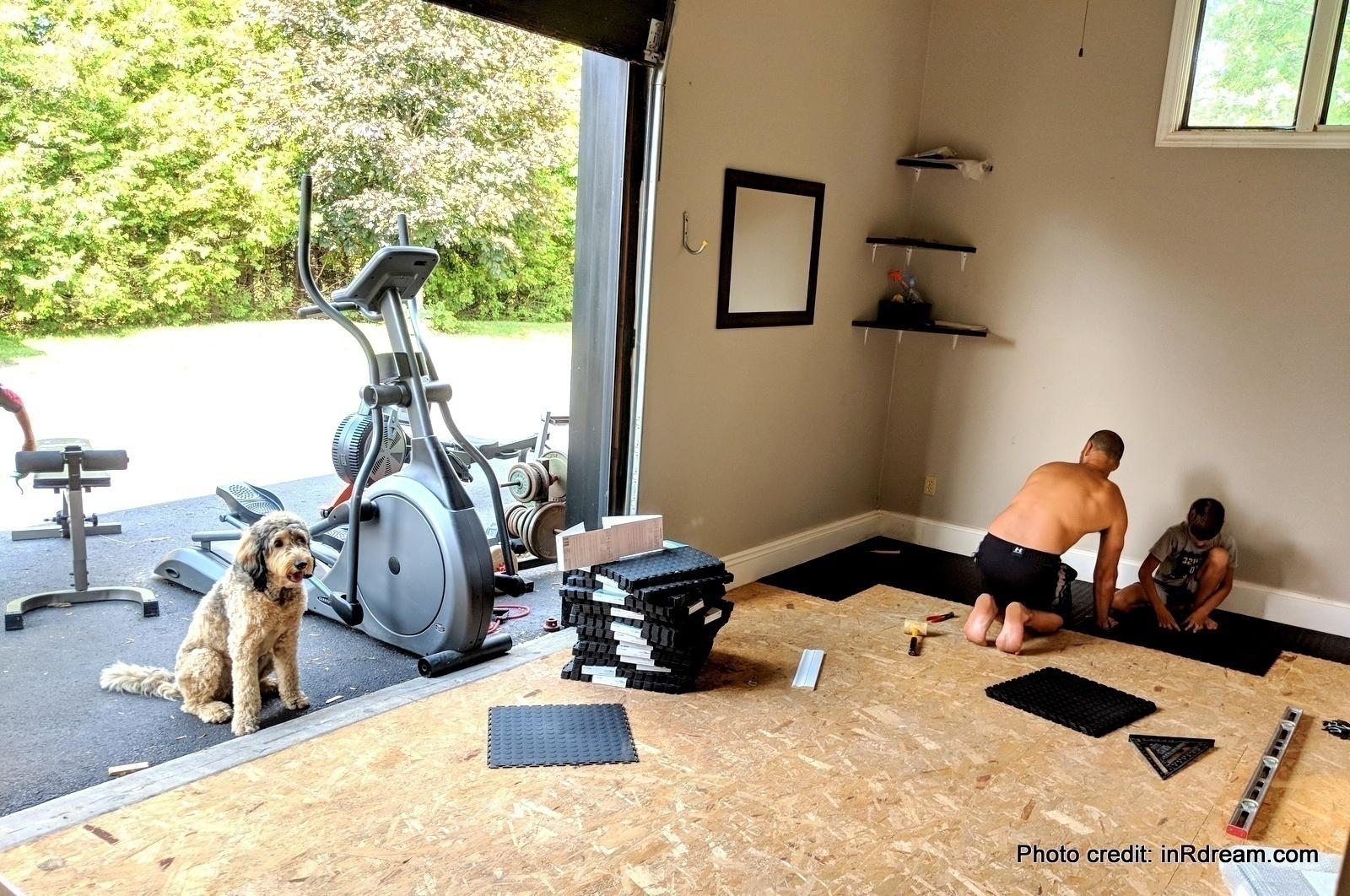 The best home gym flooring diy garage gym renovation