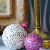 DIY - julgranskulor & tidningspapper