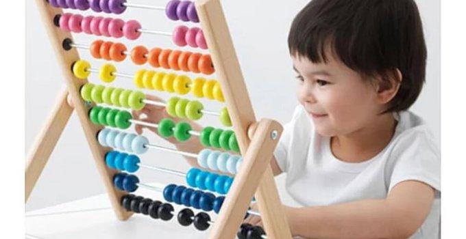 IKEA MULA Swipoa Sempoa Kayu 100 Pelangi Hitung
