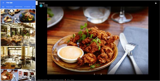 SEO lokal untuk restoran gambar 3. contoh halaman Google Bisnisku yang kaya media