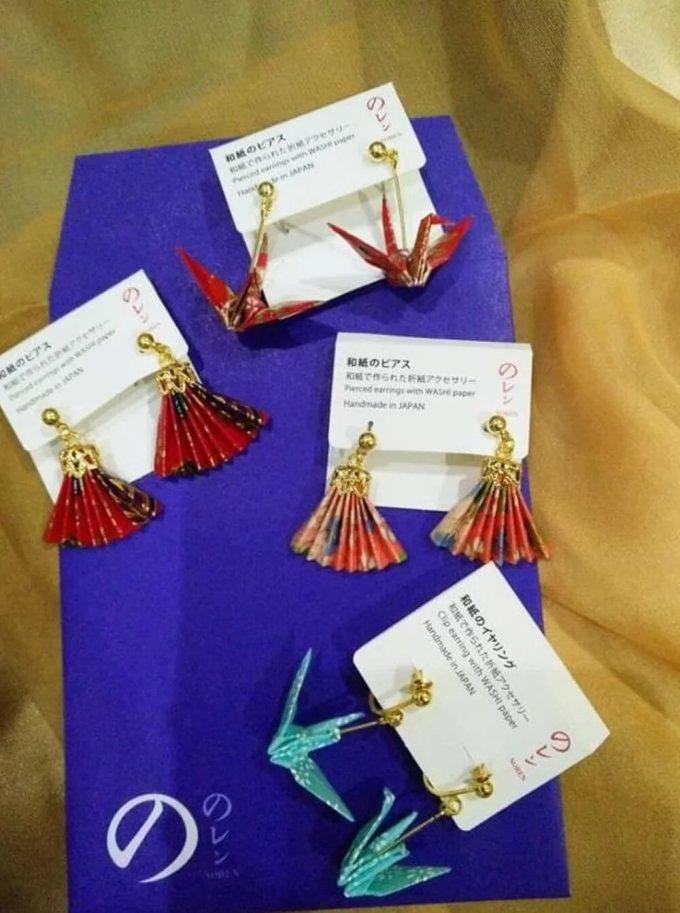 oleh-oleh dari jepang di indonesia. Anting Origami