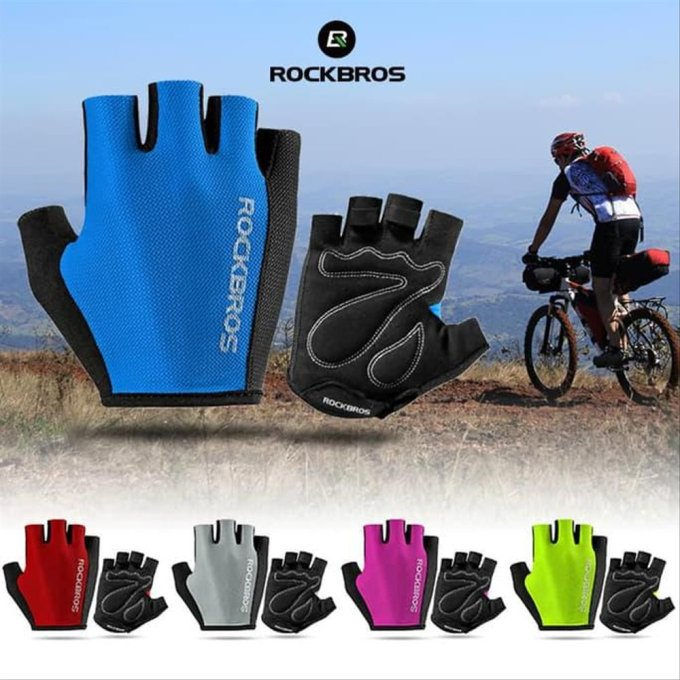 Aksesoris sepeda: Rockbros S099 bike glove half finger