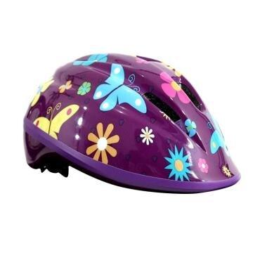 Helm sepeda anak Polygon ungu