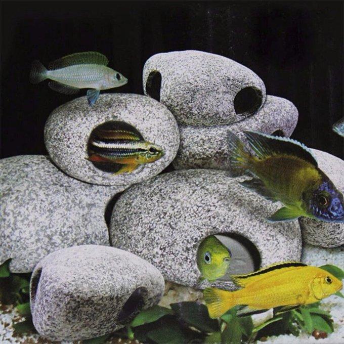 Dekorasi Aquarium Batu Keramik
