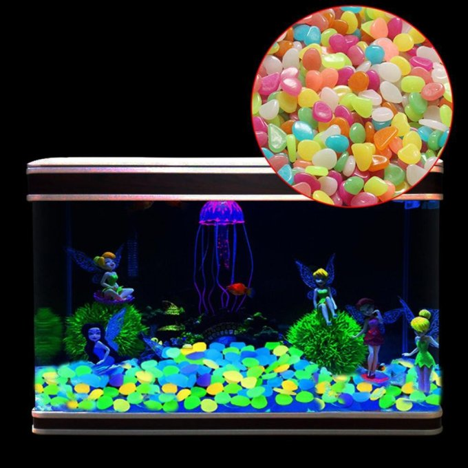 Hiasan Aquarium Kerikil Bercahaya