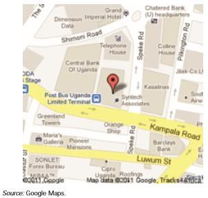 Peta Google Kampala, Uganda