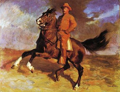 Teddy Roosevelt by Tade Styka
