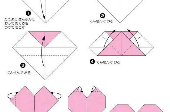 6 easy activities with Valentine's Origami hearts for preschoolers