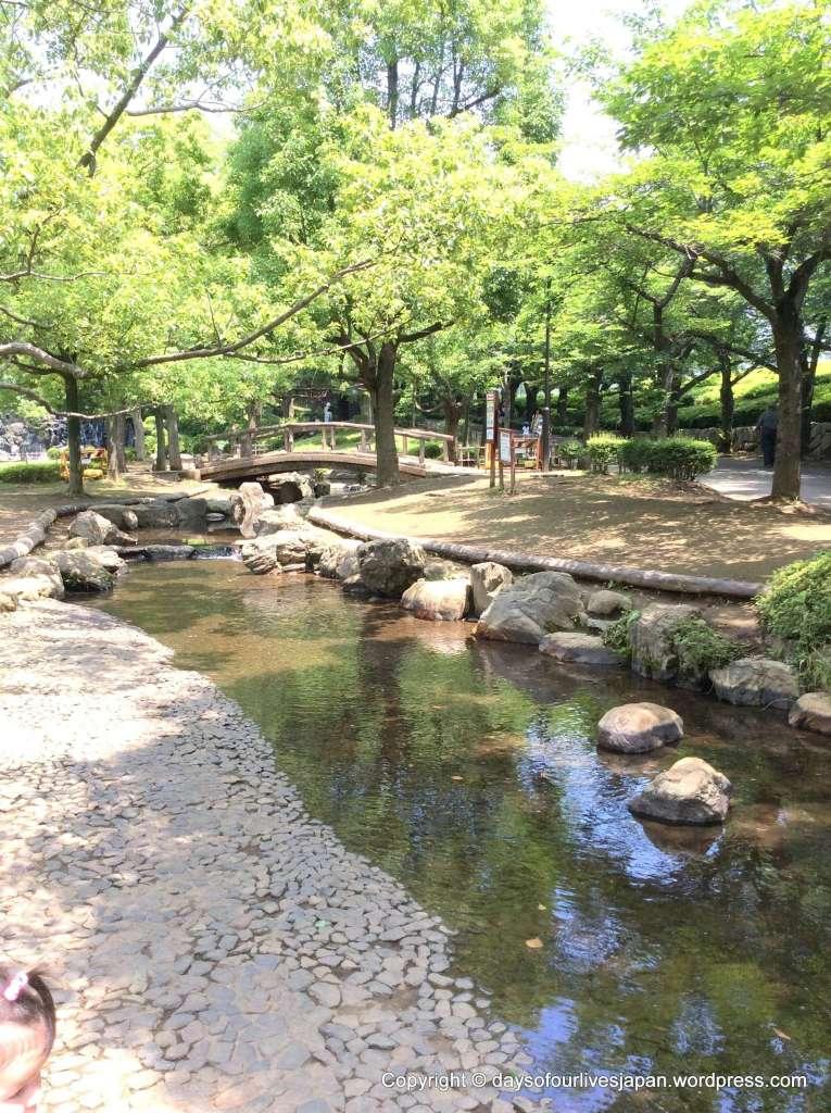 Water play wading river maruyama park