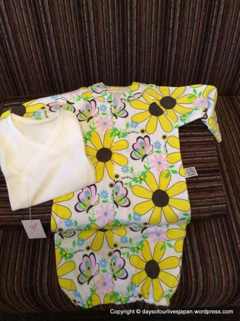 Outfit for baby on her release from hospital, gifted from the hospital