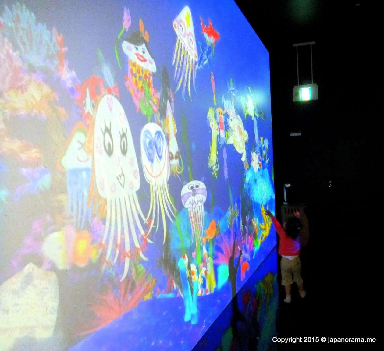 Sketch Aquarium Teamlab Islands, Team Lab Kids, team lab Lalaport