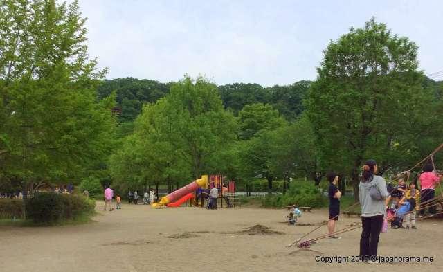 Toddler slides at Asu Park Hanno