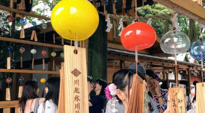 Wind chimes at Hikawa Shrine | KAWAGOE