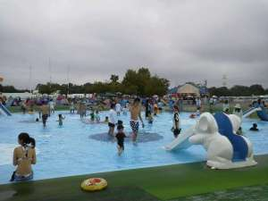Children's pool, 30cm deep with two slides