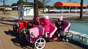 Water play and pedal cars at Hanasaki Water Park | KAZO