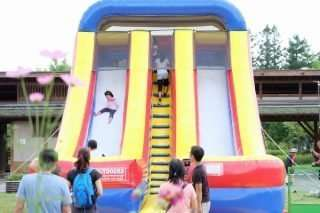 shinrin park outdoor park inflated slide