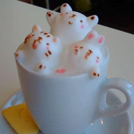 3D latte cafe