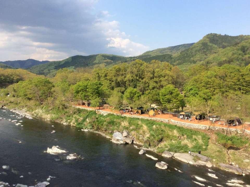 Nagatoro Autocamp on the Arakawa River Chichibu