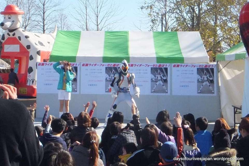 Ultraman character show heisei no mori park kawajima spring festival