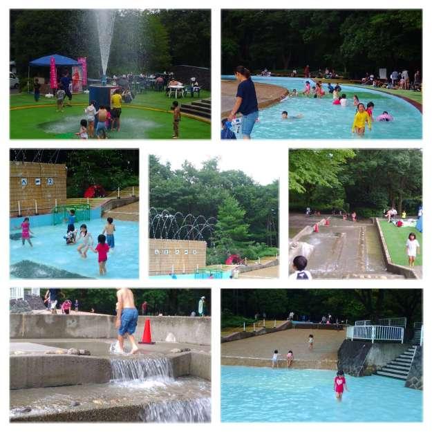 Shinrin park water play summer hot air balloon shinrin park