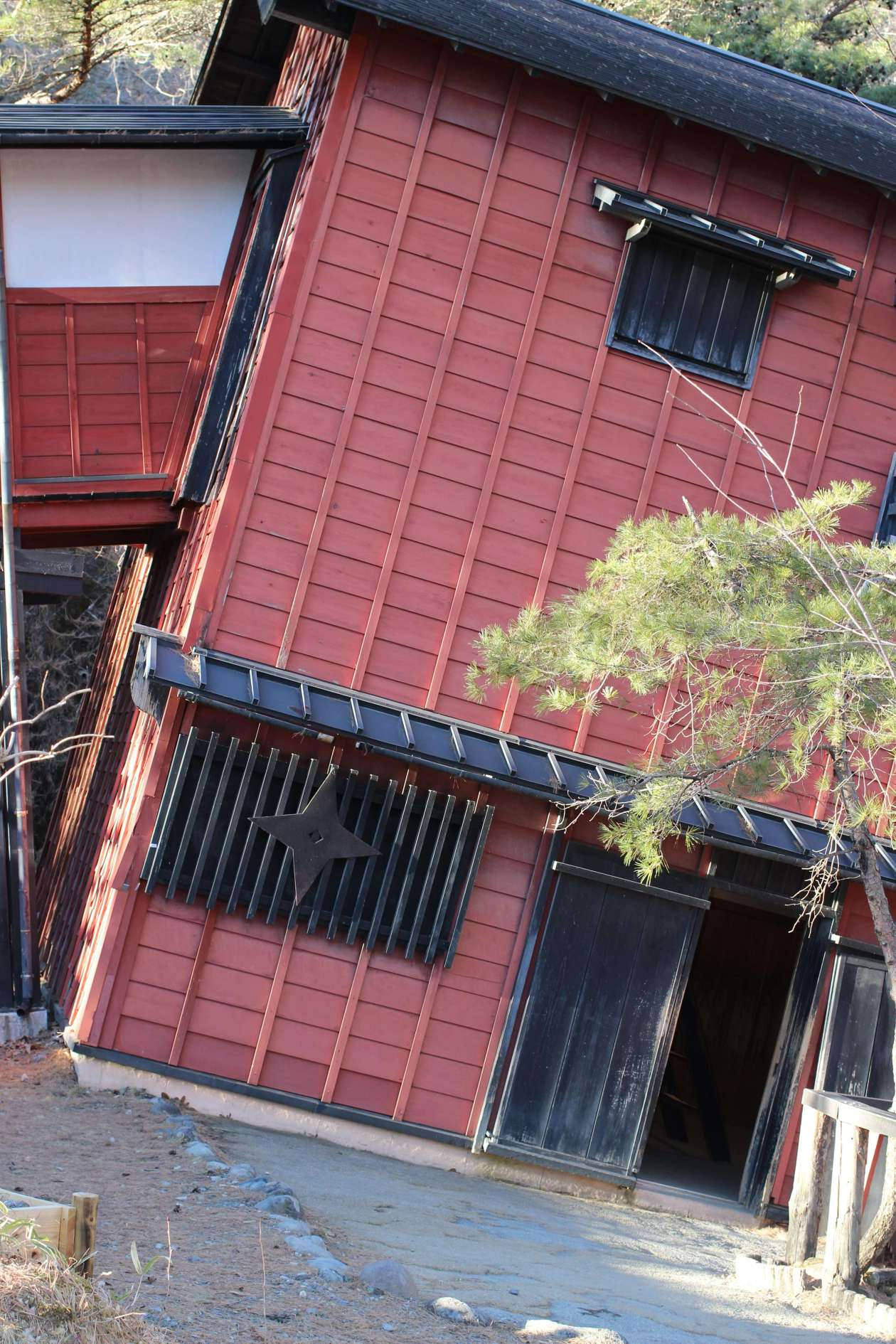 The crooked house, ninja training!, at Edo Wonderland