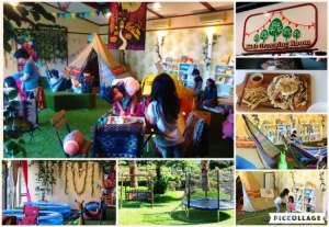 Chic Cafe with garden and kids glamping play area | HIGASHIMATSUYAMA
