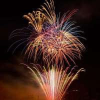 Fireworks at White Lantasia, Seibu Amusement Park