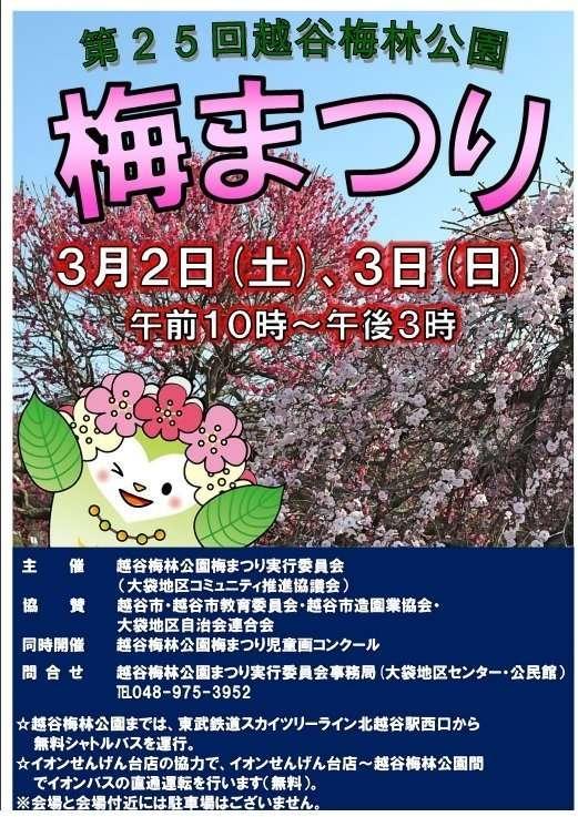 Koshigaya Plum Blossom Festival