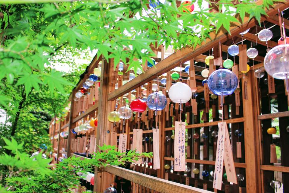 2019 Wind chimes at Hikawa Shrine   KAWAGOE