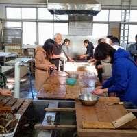 Washi workshop in Tokigawa
