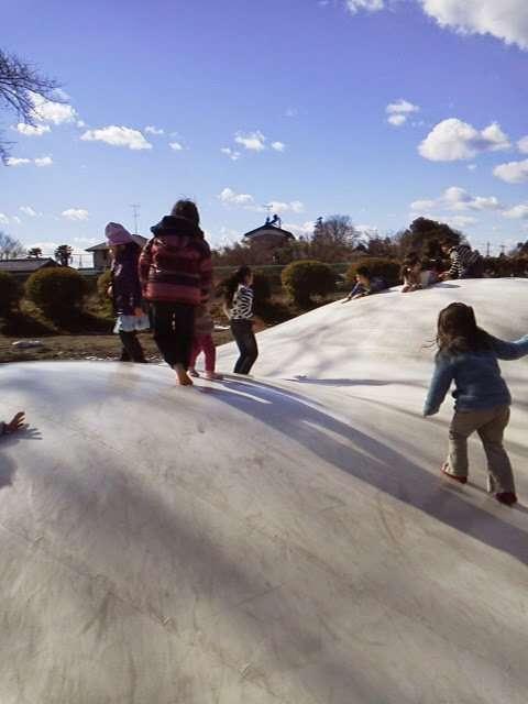 Kitamoto air trampoline Kitamoto children's park