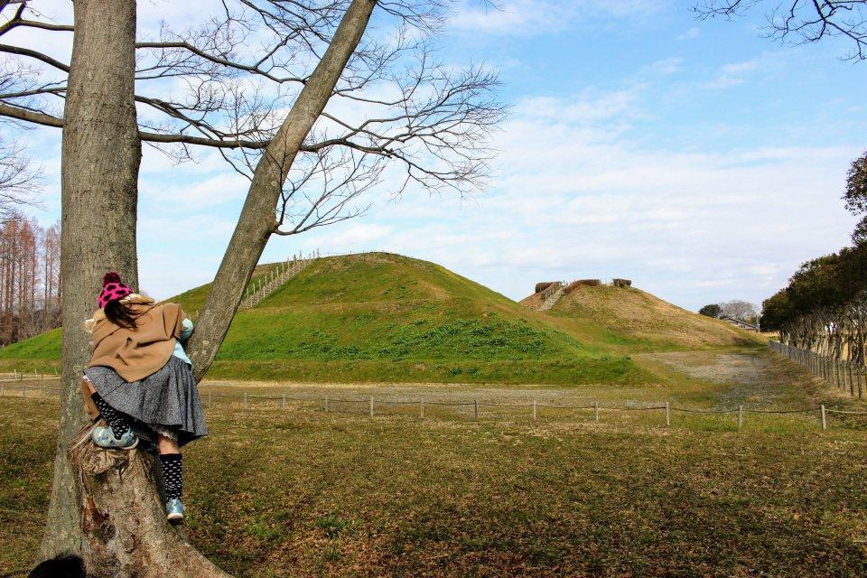 Geocaching at Sakitama Kofun Park in Saitama Prefecture