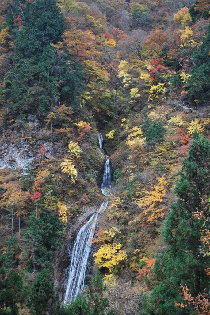 Marugami falls in the Ryokami area of Ogana, Chichibu, Saitama and in Japan's top 100 waterfall list
