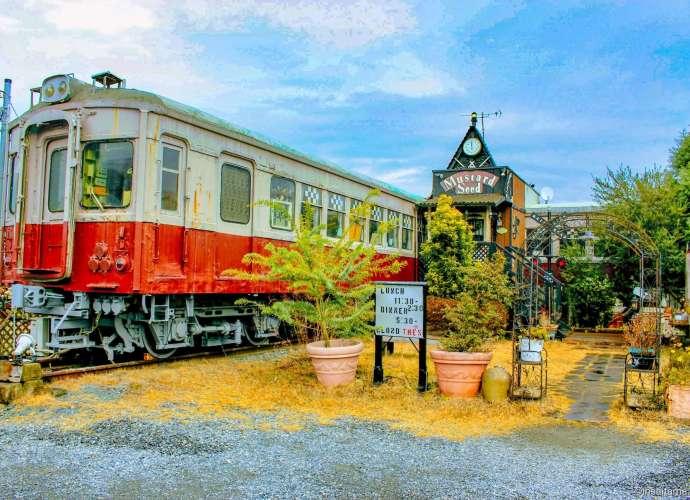 Railway Carriage Restaurant Mustard Seed Gyoda