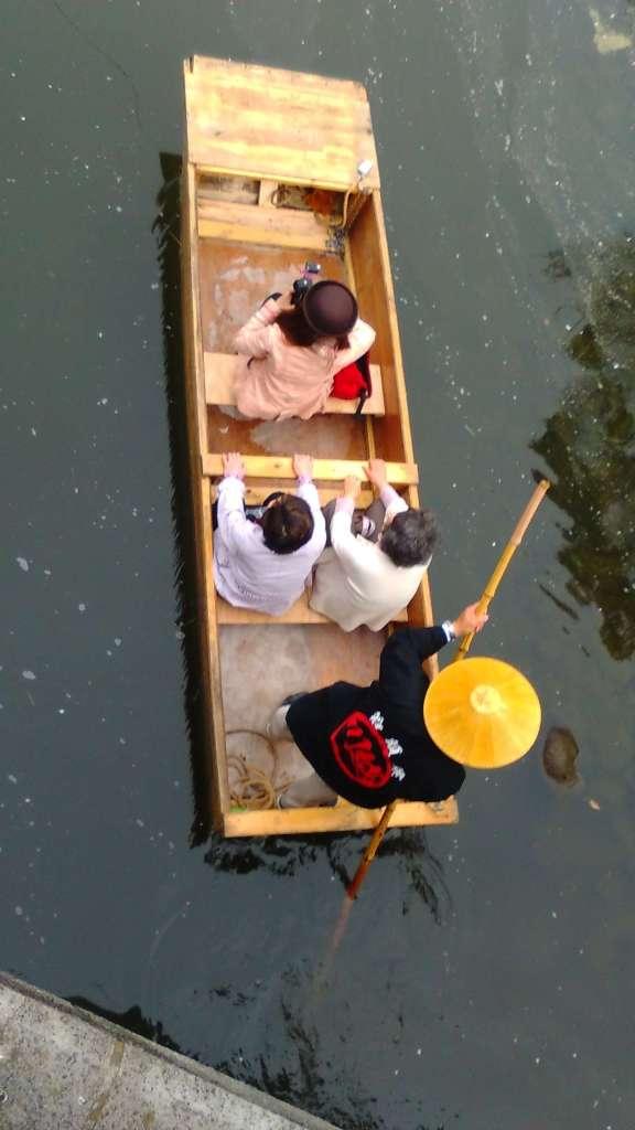 boat ride on the shingashi river kawagoe