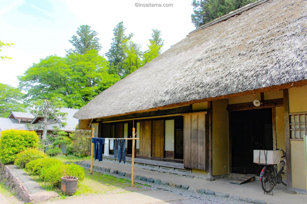 thatched roof paper making house