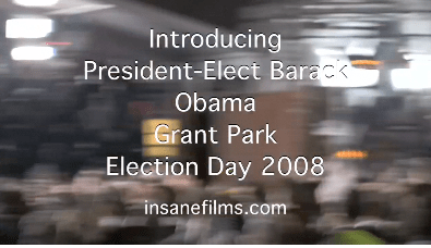 OBAMA VICTORY SPEECH 2008 GRANT PARK