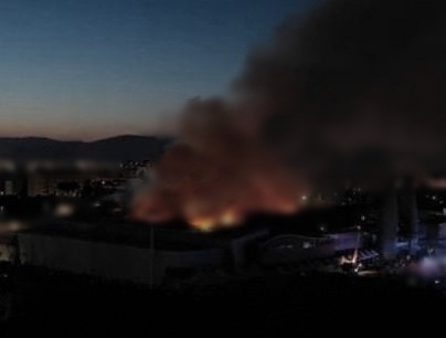 Incendio Coop notte