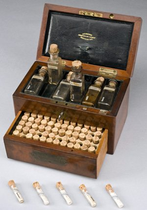 Homeopathic medicine chest, Northamptonshire, England, 1801