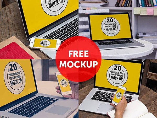55 Free Psd Digital Devices Mockups To Present Your Ui Designs