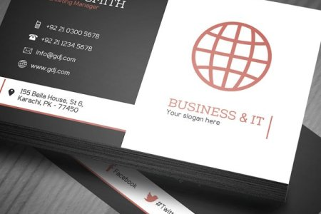 30  Amazing Free Business Card PSD Templates Free Corporate Business Card Template  PSD
