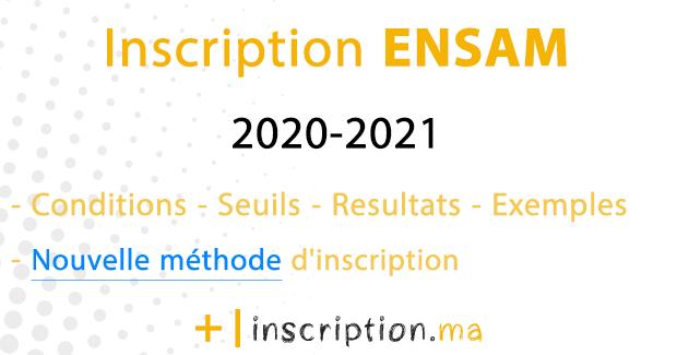inscription concours ENSAM 2020-2021