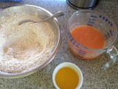 papaya, flour, butter