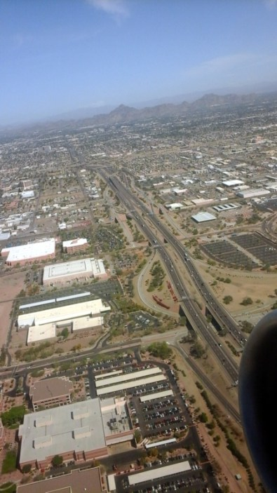 Flying over Phoenix. Dry, dry, dry!!