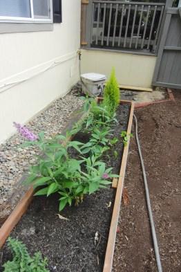 A second smaller planter box
